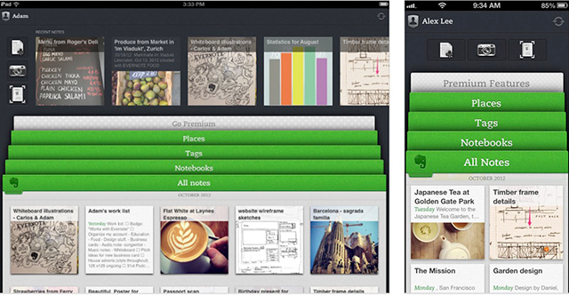 Evernote 5 Homescreen